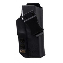 L.A.G. Tactical Liberator IWB/OWB Holster for Glock 30S, Black, Right Hand
