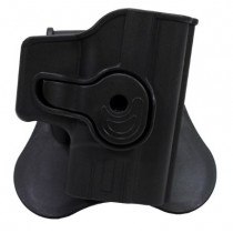 Bulldog Rapid Release Paddle Holster, Springfield XD9/40, Black, Right Hand