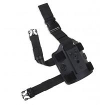 Bulldog Universal Drop Leg Holster Platform, Black, Right Hand