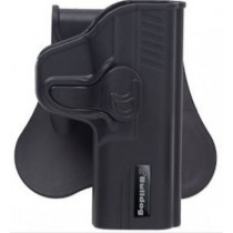 Bulldog Rapid Release Paddle Holster, Ruger LC9 w/ Laser, Black, Right Hand