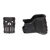 The Mako Group Mojo AR-15 Magazine Well & Grip w/ Vigilante Elongated Skull Insert, Black
