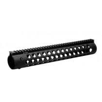"Troy Industries Alpha Rail AR-15 Free Float Modular Handguard 13"", Aluminum, Black"
