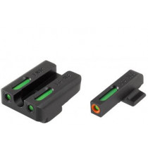 Truglo TFX Pro Tritium/Fiber-Optic Day/Night Sights For FNH FNP-40 FNX-40 FNS-40 FNS-40 Compact, Orange Outline Front/Rear Green