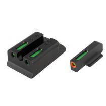TRUGLO TFX Pro Sight Set For Ruger SR9, SR9C, SR40, SR40C, SR45 Tritium / Fiber Optic Green with Orange Front Dot Outline