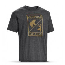 Leupold Optics Tee Graphite Heather Mens, Size: Medium