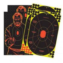 "Birchwood Casey Shoot-N-C 12""x18"" Combo Bad Guy Pistol Self-Adhesive 5 Pack"