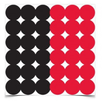 "Birchwood Casey Dirty Bird Red and Black 1"" Target Pasters, Package of 432"