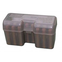 MTM Case-Gard RF22 Series 22 Round Short Magnum Ammunition Box, Smoke
