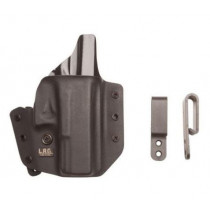 L.A.G. Tactical Series Defender IWB/OWB Holster for Walther CCP, Black, Right Hand