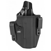 "L.A.G. Tactical Defender Series IWB/OWB Holster for 5"" 1911 w/o Rail, Black, Right Hand"