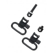"Uncle Mike's Quick Detachable Forend Band Style Sling Swivel Set with Machine Screw Base 1"" Black"