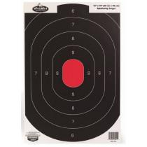 "Birchwood Casey Dirty Bird 12""x18"" Silhouette Paper Target White Splatter Indoor/Outdoor Eight Pack"