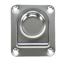 """Whitecap Products 2-1/4"""" x 2-5/8"""" Stainless Steel Pull Ring"""