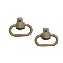 GrovTec Heavy Duty Push Button Swivels Stainless Steel Cerakote, Desert Sand