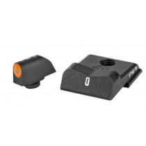 XS Sights DXT Big Dot Night Sights For Smith & Wesson .380 Shield EZ, Tritium Front/Orange Ring Tritium Stripe Rear