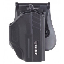 Bulldog Thumb Release Poly Holster W/Paddle & Mag Holder For Sig 938, Right Hand