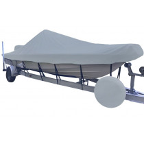 Carver Performance Poly-Guard Styled-to-Fit Boat Cover f/17.5' V-Hull Center Console Shallow Draft Boats - Grey - 71217P-10