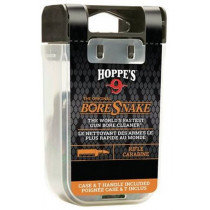 Hoppe's No. 9 Boresnake Snake Den .50/.54 Caliber Rifle Length Pull Thru Bore Cleaning Rope with Bronze Brush