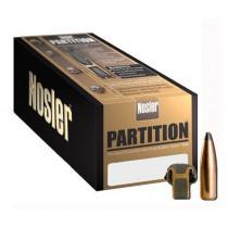 """Nolser .30 Caliber .308"""" Diameter 165 Grain Soft Point Partition Rifle Bullets 50 Count"""