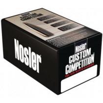 Nosler Custom Competetion Bullets, .308 Diameter 155 Grain Hollow Point Boat Tail, Box of 250