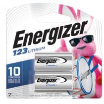Energizer 3V CR123 Lithium Battery (2-Pack)
