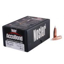 Nosler AccuBond Bullets 30 Caliber (308 Diameter) 150 Grain Bonded Spitzer Boat Tail, Box of 50