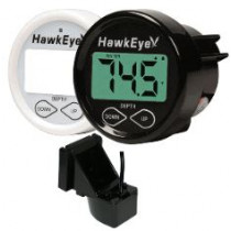 HawkEye DepthTrax 1BX In-Dash Digital Depth & Temp Gauge - Transom Mount