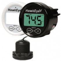 HawkEye DepthTrax 1BX In-Dash Digital Depth & Temp Gauge - Thru-Hull