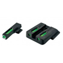 TruGlo TFX Standard Height Ruger LC Series Front/Rear Day/Night Sight Set Green Tritium 3-Dot Configuration