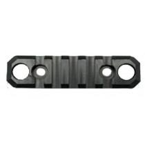 "GrovTec Push Button Base 3.1"" 5 Slot Rail for AR-15 Handguards"