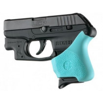 Hogue Handall Hybrid Ruger LCP Crimson Trace Button Grip Sleeve, Aqua