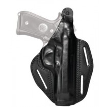 Blackhawk Three Slot Leather Pancake Holster, Black, Right Hand For Kahr CW9/CW40 P9/P40 K9/K40