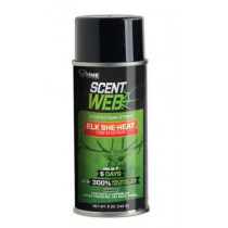 Shooting Made Easy Scent Web Elk She-Heat Scented Foam Cow in Estrus String, 5oz Can