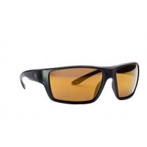 Magpul Terrain Shooting Glasses, Black Frame, Polarized Anti-Reflective Bronze/Gold Mirror Lenses, MAG1021-221