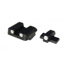 HiViz NiteSite Low Profile Tritium 3-Dot Night Sight Set, Green Tritium, For Springfield Armory XD/XD(M)/XD-S