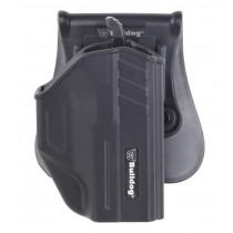Bulldog Cases Thumb Release Holster With Paddle And Mag Holder For Glock 43, Right Hand