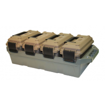 MTM 4-Can Ammo Crate Combo W/ 30 Caliber Cans Polymer, Dark Earth