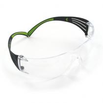 Peltor Sport SecureFit 400 EP, Safety Glasses, Clear, Black & Green