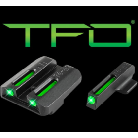 TRUGLO TFO Kahr Arms Tritium/Fiber Sight Set Grn/Grn