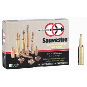 Sauvestre .270 WSM 126gr HP, Lead Free, Box of 20