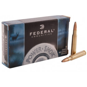 Federal Power-Shok 30-06 SPRG 180 GR SP, Box of 20