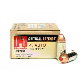 Hornady Critical Defense 45 ACP, 185 GR FTX, Box of 20
