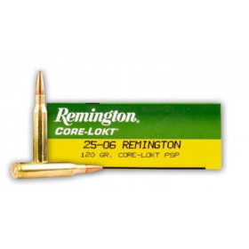 Remington Core-Lokt 25-06 Rem, 120 GR PSP, Box of 20