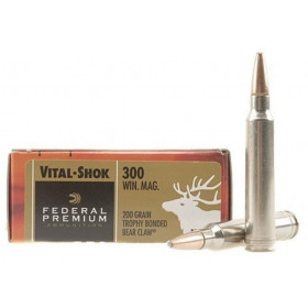 Federal Premium Vital-Shok 300 Win Mag, 200 GR Trophy Bonded Bear Claw, Box of 20