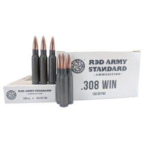 Red Army Standard .308 Win 150 GR. FMJ, 500 RD CASE