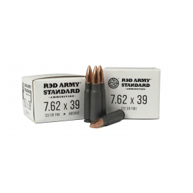 Red Army Standard 7.62x39 122 GR FMJ, 1000 RD CASE