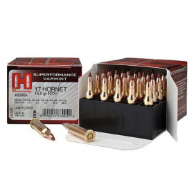 Hornady Superformance 17 Hornet, 15.5 GR NTX, Box of 25