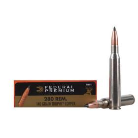 Federal Vital-Shok, 280 Remington, Trophy Copper 140 GR, Box of 20