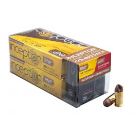 Inceptor Sport and Carry Combo Pack, .45 ACP, 135 GR RNP & 118 GR ARX Lead Free Injection Molded Copper-Polymer Projectile, Box of 120