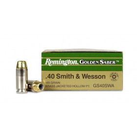 Remington Golden Saber 40 S&W, 165 GR JHP, Box of 25